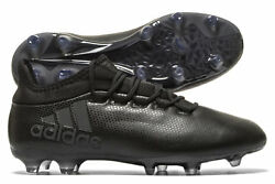 4ec558e27677 adidas Mens X 17.2 Firm Ground Football Boots Studs Trainers Sports Shoes  Black