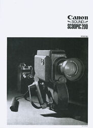canon sound scoopic 200 instruction manual