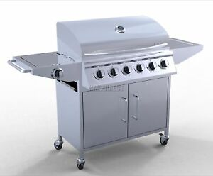 6 Burner Gas BBQ + 1 Side Burner