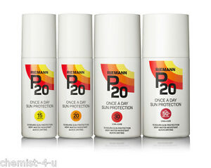 Selection of Riemann P20 Once A Day Sun Protection