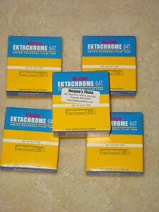 5 x 64t ektachrome super 8 movie film was