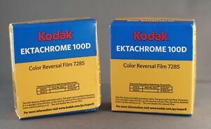 two new sealed kodak 7285 ektachrome 100d