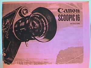 canon scoopic instructions free u s of a