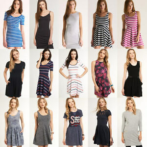 New Womens Superdry Dresses Various Styles and Colours