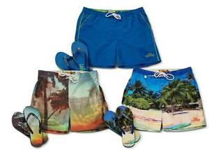Men's Tokyo Laundry Swimshorts & Flip Flop sets - Assorted designs