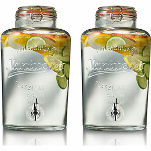 Set of 2 8L Nantucket Drink Dispenser
