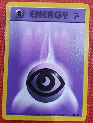 Pokemon Card Psychic Energy 129/130 - Base Set 2 - Excellent Condition