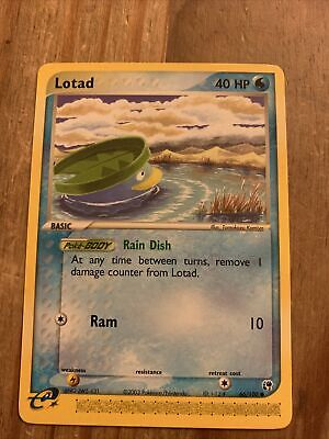 Lotad 66/100 EX Sandstorm Pokemon Card