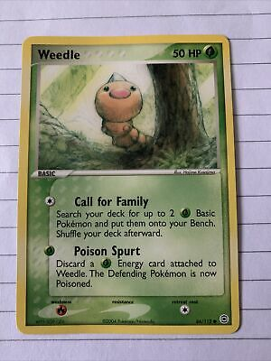 Weedle 86/112 Ex Firered And Leafgreen Pokemon Card