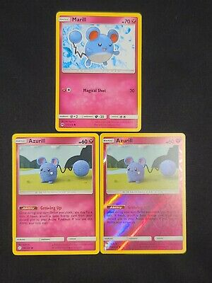 Pokemon Azurill 146/236 Cosmic Eclipse Reverse Holo -Marill 135/214 Lost Thunder