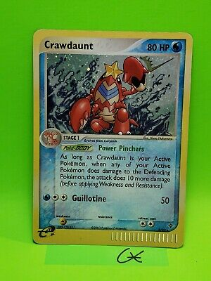 Pokemon Crawdaunt - 3/97 - Holo Rare Ex Dragon Lp/Mp