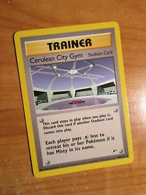 PL (Unlimited) Pokemon CERULEAN CITY GYM Card GYM HEROES Set 108/132 PLAYED