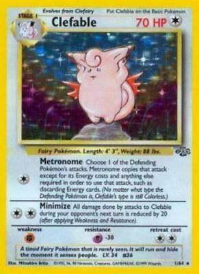 Pokemon Clefable - 1/64 - Holo Rare - Unlimited Edition Jungle Heavily Played