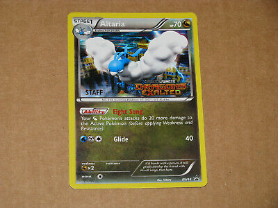 Pokemon Altaria Staff Black and White Dragons Exalted Stamped Card BW48
