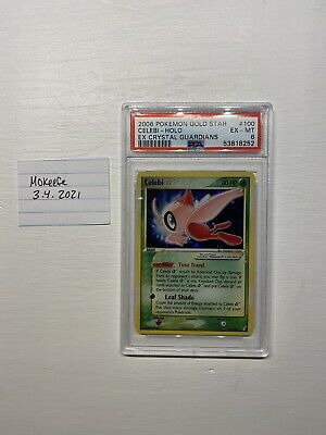 2006 Pokemon Gold Star Celebi Holo Ex Crystal Guardians PSA 6