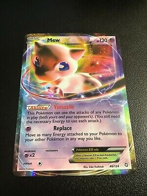 Mew EX 46/124 Holo Ultra Rare Pokemon Dragons Exalted