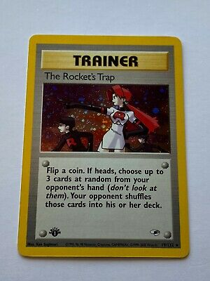 Trainer The Rocket's Trap (19/132)  POKEMON Gym Heroes, unplayed mint 1st Ed