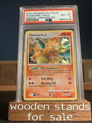 PSA 8 NM-MT Charizard 1/99 HOLO BLEED Platinum Arceus Cracked Ice Pokemon Card