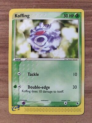 Koffing 54/109 - MINT EX Ruby Sapphire - Pokemon 2003 Common TCG Card