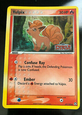 Vulpix 69/108 EX Power Keepers Holofoil Stamp Pokemon Card