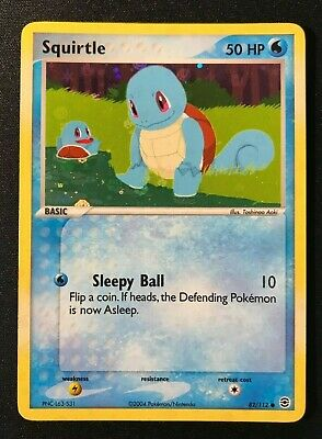Squirtle Reverse Holo 82/112 Ex FireRed & LeafGreen 2004 Pokemon Card