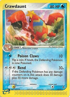 CRAWDAUNT 13/97 EX Dragon RARE Pokemon WOTC Card NM