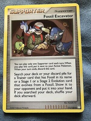 Fossil Excavator Pokemon Supporter D&P Mysterious Treasures Card 111/123