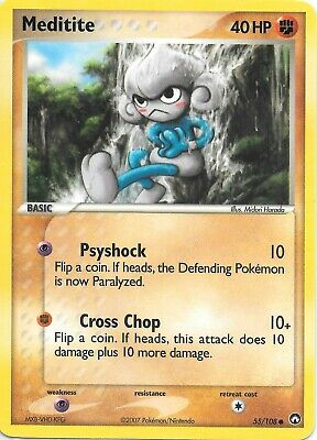 MEDITITE  55/108  EX POWER KEEPERS Pokemon Card  NM