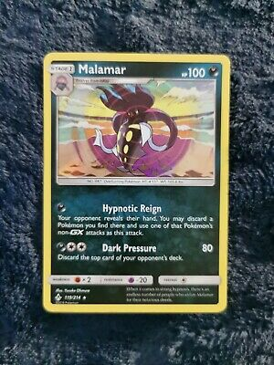 • MALAMAR - 119/214 | Holo | Rare | UNBROKEN BONDS | Pokemon Cards TCG | NM •