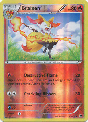 Braixen - 12/124 - Uncommon - Reverse Holo - XY - Fates Collide - NM - Pokemon