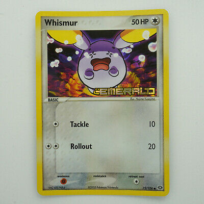 Whismur 73/106 Holo Common Stamped Emerald Pokemon Card