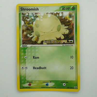 Shroomish 63/106 Holo Common Stamped Emerald Pokemon Card