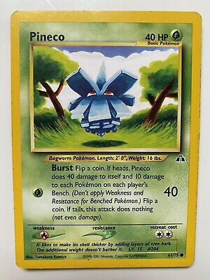 Pineco Neo Discovery Set 61/75 Pokemon Card Good