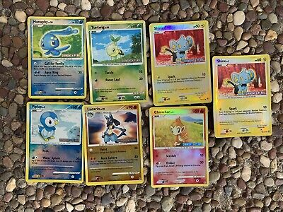 Lucario Turtwig Chimchar Shinx Piplup Manaphy Pokemon Cards Diamond Pearl  Holo
