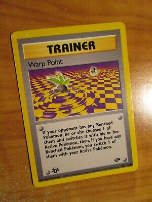 LP (1st edition) Pokemon WARP POINT Card GYM CHALLENGE Set 126/132 First Ed
