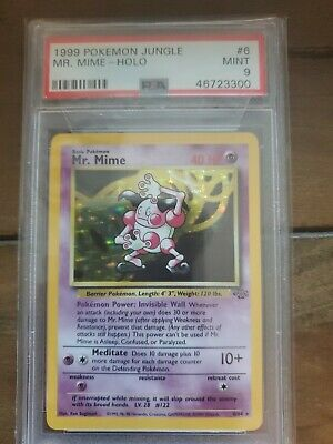 Mr. Mime 1999 Pokemon Jungle #6 Holo - PSA 9