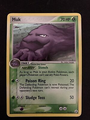 MUK 11/92 EX Legend Maker HOLO rare Pokemon card NM+ STRONG Near Mint Or MINT