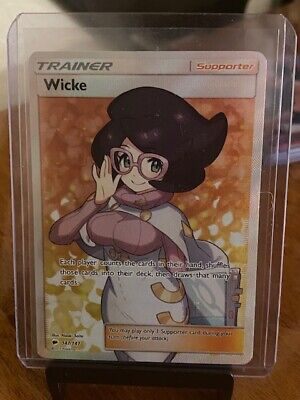 Pokemon: Wicke Burning Shadows Ultra Rare 147/147 Full Art Trainer Mint/NM