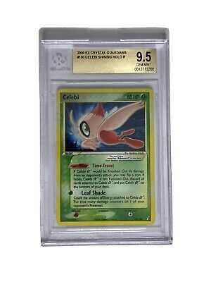 2006 Pokemon EX Crystal Guardians Holo Gold Star Celebi BGS 9.5 GEM MINT PSA CGC