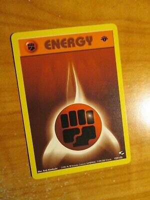LP (1st edition) Pokemon FIGHTING ENERGY Card GYM HEROES Set 127/132 First Ed