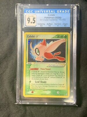 2006 Pokemon EX Crystal Guardians Holo Gold Star Celebi CGC 9.5 GEM MINT PSA BGS