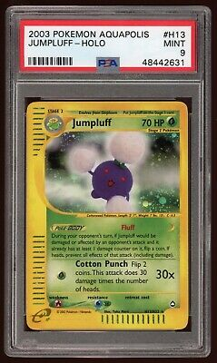 Pokemon Aquapolis Jumpluff Holo PSA 9 MINT ⭐️