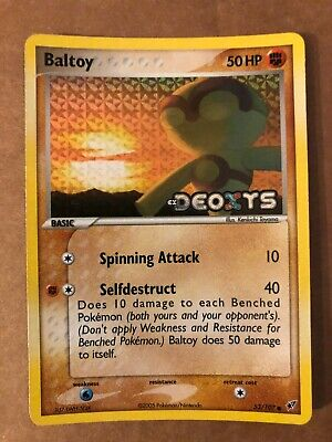 Pokemon Baltoy 53/107 ex Deoxys Reverse Holo NM-Mint See Pictures