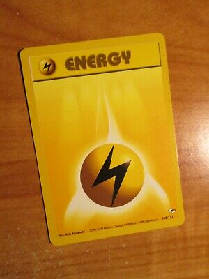 PL(Unlimited) Pokemon LIGHTNING ENERGY Card GYM HEROES Set 130/132 Common PLAYED