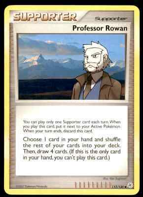 2007 Pokemon Diamond And Pearl Professor Rowan #112