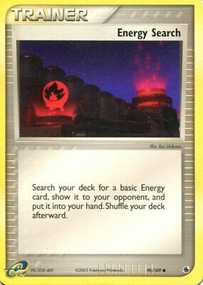 Pokemon Card - Energy Search - 90/109 - EX Ruby & Sapphire - M/NM - Common