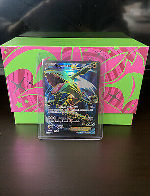 Rayquaza EX 104/108 - Full Art Ultra Rare - XY Roaring Skies Pokemon Card