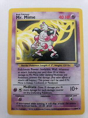 Mr. Mime  (Jungle 6/64) -HOLO- (lightly played) WOTC Pokemon Card