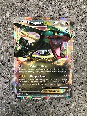 Pokemon TCG Cards Rayquaza EX 85/124 Dragons Exalted Ultra Rare Holo NM