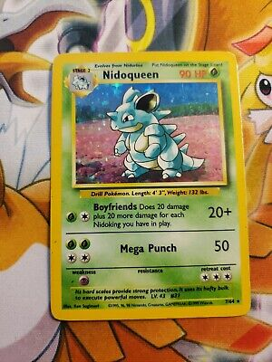1999 Pokemon Jungle Set 7/64 Nidoqueen Rare Holo Misprint/Error No Set Symbol LP